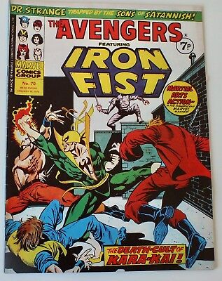 Avengers & Iron Fist - Marvel Comics - Issue # 70 - dated January 1975 - (864)