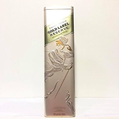 Johnnie Walker Gold Label Reserve Empty Tin Box Limited Edition Design