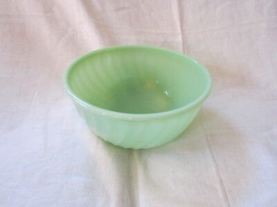 """Vintage 8"""" Fire King Jadite Green Swirl Oven Ware Mixing Bowl"""