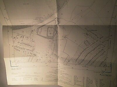 "Swalecliffe-St Johns-Whitstable:kent Os Planner's Map 25"" Best Scale 1950-58"