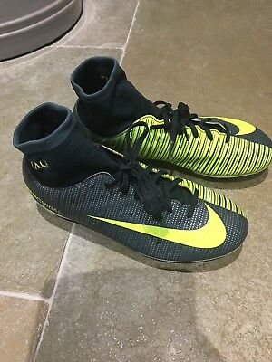 great prices cheap for discount best online BOYS NIKE MERCURIAL Cr7 Football Boots Grey And Bright Green ...