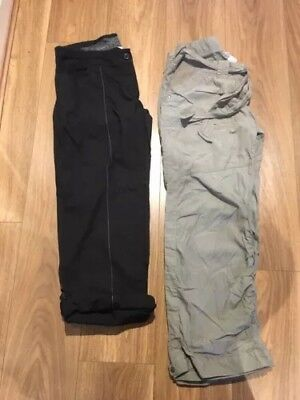 Two Pairs Of Lightweight Maternity Summer Trousers Size 12 Short