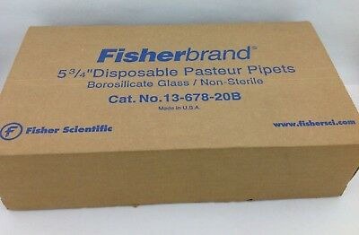 Fisherbrand Disposable Borosilicate Glass Pasteur Pipets 5 3/4 (box of 250)