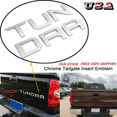 For Toyota Tundra 14-19 Tailgate Insert Letters Chrome car accessories 3D Emblem