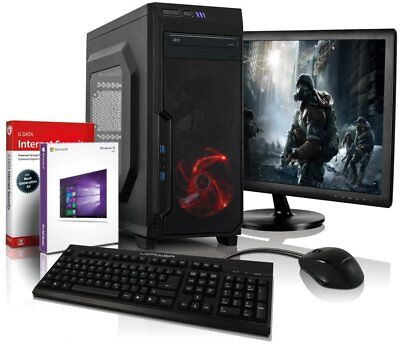 "i5 Gaming Komplett PC+ 22"" TFT HD 4600 8GB 500GB Computer Windows 10 Rechner"