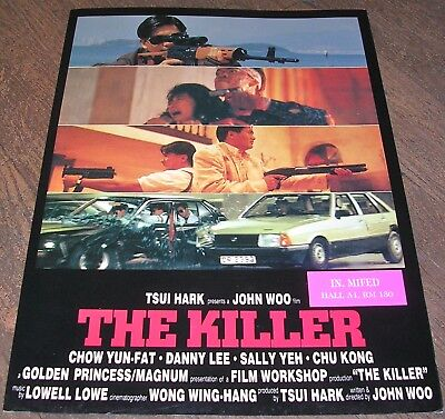 THE KILLER - John Woo - SYNOPSIS ANGLAIS D'ÉPOQUE + 2 CARTES POSTALES (1995)