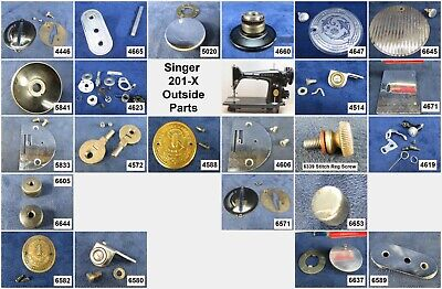 VIntage Singer Sewing Machine Model 201 - Choose Your Parts! Free Ship Over $25
