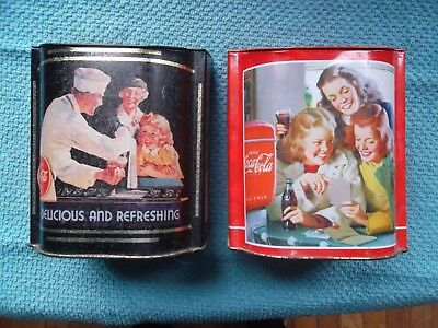 Coca-Cola Tins--2 Items
