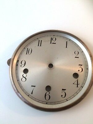 Vintage Silvered Dial For Westminster Mantel Or Wall Clock