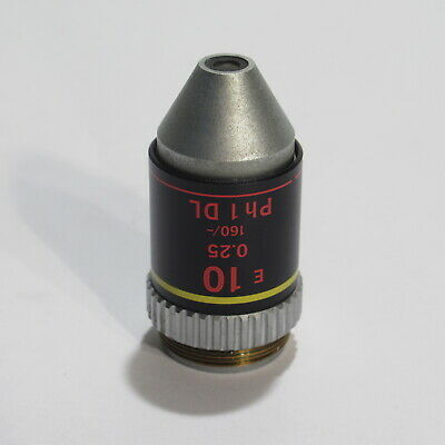 Nikon E 10 0.25 160/- Ph1 Dl Phase Contrast Microscope Objective - 10X