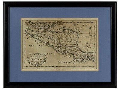 c1705 Engraved Map of Guatemala by Nicolas Sanson d'Abbeville