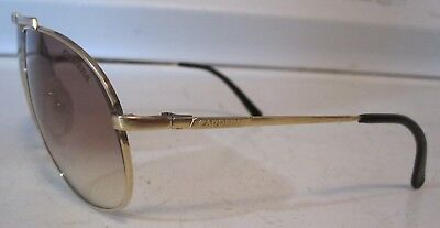 Vintage Carrera 5401 Small Gold Aviator Pilot Sunglasses Made in Germany 40