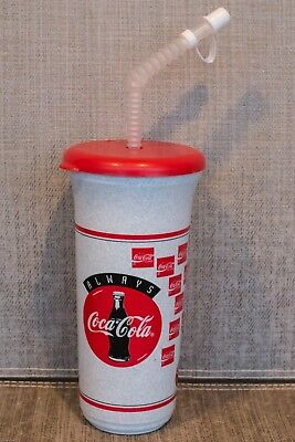 "VINTAGE COCA-COLA ""West Seattle Bingo"" Plastic 32oz Sport Travel Mug/Cup  ~ NEW"