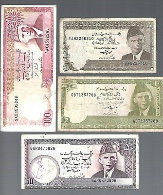 4 Banknotes from Pakistan
