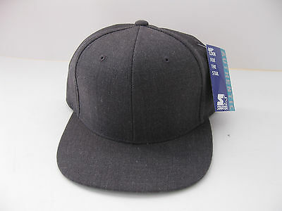 9c00f0e056f RARE Starter Snapback Blank Heather Grey gray New With Tags Vintage Natural