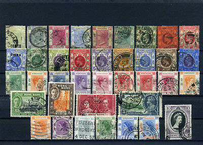 nice lot oldies HONG KONG, all postally used