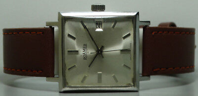 Vintage Roamer Winding Swiss Made Wrist Watch Old Used s861 Antique