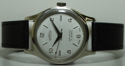 Vintage Roamer Winding Swiss Made Wrist Watch Old Used s886 Antique