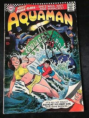 Aquaman #33 Comic Book (Dc,1967) First Appearance Of Aqua-Girl +