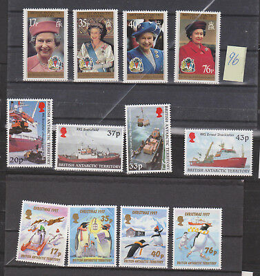 Britisch  ANTARCTIC TERRITORIES, 12 STAMPS from  1994/95 MNH**, see scan!
