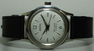 Vintage Roamer Winding Swiss Made Wrist Watch Old Used s885 Antique