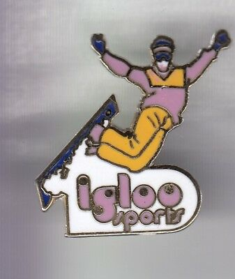 Rare Pins Pin's .. Sport Hiver Ski Skiing Snowboard Igloo Olympique 1992 ~D4