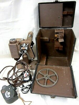 Vintage Revere Model 85 Deluxe 8mm Movie Film Projector w/ Case & Guide #17GR