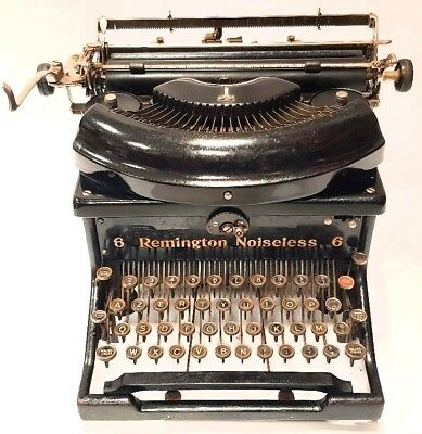 antigua Maquina de escribir REMINGTON NOISELESS TYPEWRITER  macchina da scrivere