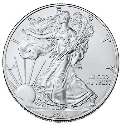 2019 1 oz American Silver Eagle $ 1 GEM BU PRESALE SKU55748