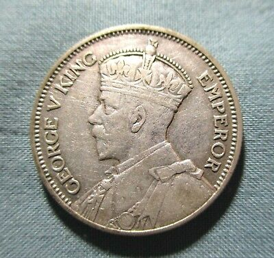 1934 NEW ZEALAND 1 Shilling one silver coin KGV