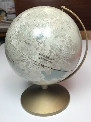 "Vintage Replogle 6"" 1969 Apollo II Moon Landing Sites Globe on Stand"