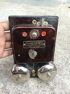 Antique Scarce Boxed Unused Patented Newest Air Bell,Japan- Mint