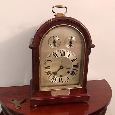 Antique German FMS Westminster Chime Bracket Clock - Presented To Freesmasons