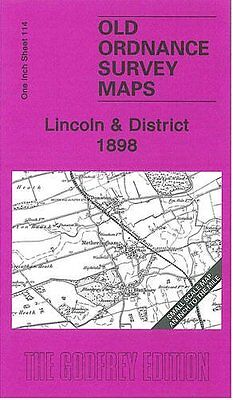 Old Ordnance Survey Map Lincoln & District 1898