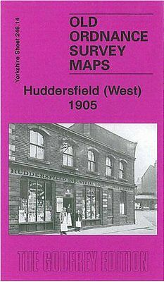 Old Ordnance Survey Map Huddersfield (West) 1905