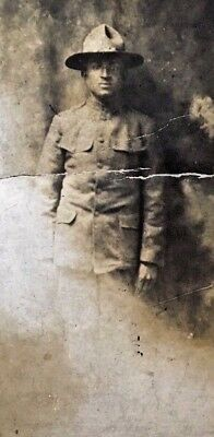 Ww1 Rppc Us Army African American Soldier Real Photo Postcard