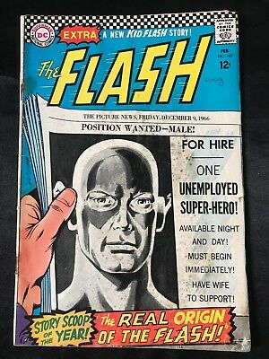 The Flash #167 Comic Book (Dc,1967) Silver Age +