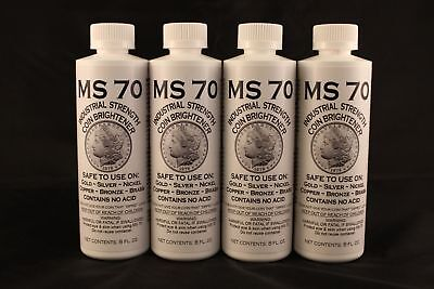 MS70 Coin Cleaner, Brightener, Gold-Silver-Nickel-Copper- 4 Total