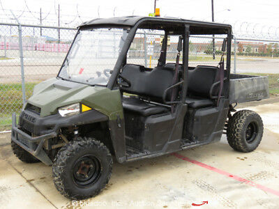 2015 Polaris Ranger EFI 570 Crew 4WD Utility Vehicle UTV Cart ATV Dump Bed