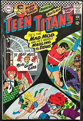 Teen Titans Comic (Dc,1967) #7 First Appearance Of Mad Mod!! Silver Age ~