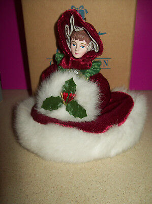 Avon VICTORIAN LADIES Christmas Ornament  with Box