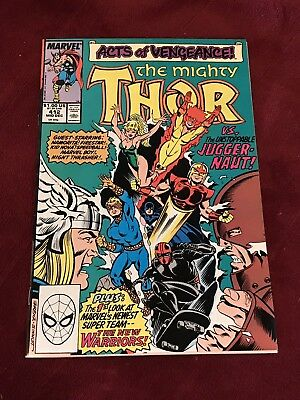 MARVEL COMICS key issue THOR #412 1st appearance NEW WARRIORS NM