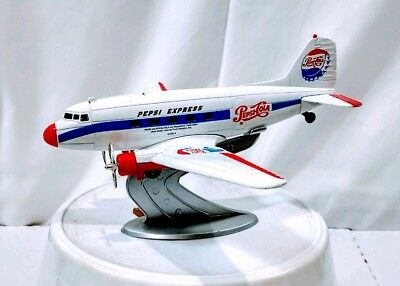 Pepsi Vintage Air Plane Bank Metal And Plastic Stand Collectable