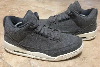 big sale 1bd89 d1abf NIKE Air Jordan 3 Retro Wool Dark Grey Sail Men s 11 Basketball Shoe  854263-004