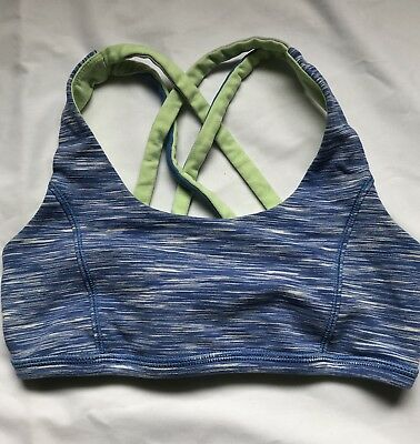 26e9268293283 IVIVVA GIRLS SPORTS bra reversible Blue green- size 10 -  11.50 ...