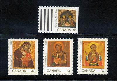 Christmas Noel - Icons Madonna & Child, Nativity MNH 1988 Canada 1222-1225, q02