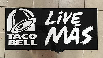 Taco Bell Live Mas Wall Sign