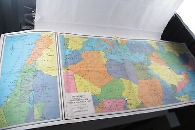 Giant Colorprint MAP Mediterranean Middle & Near East #9573 American Map Co