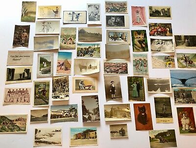 Lot of 52 Antique Vintage Postcards, Real Photos, Some With Postage & Unused