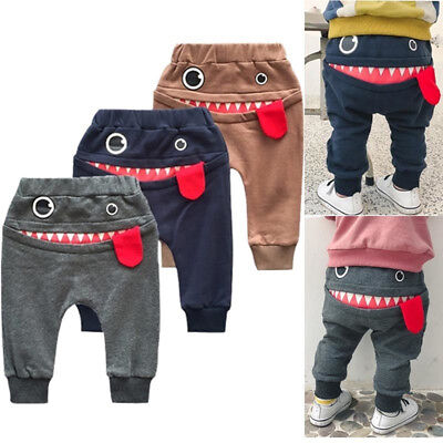 Cartoon Baby Cotton Toddler Pants Newborn Casual Trousers boys Elastic Pant Kg